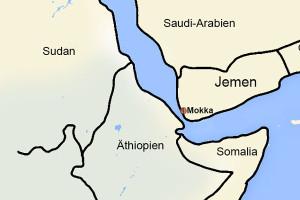 Karte - Mokka im Jemen